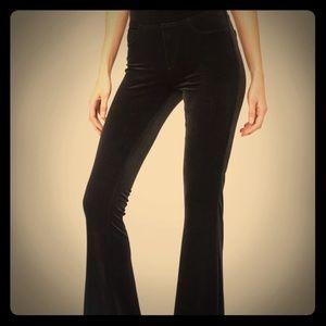 Brand new black velvet pull on fit and flare pant.